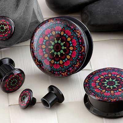 Acrylic Kaleidoscope Plugs