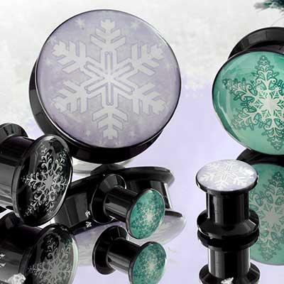 Acrylic Snowflake Plugs