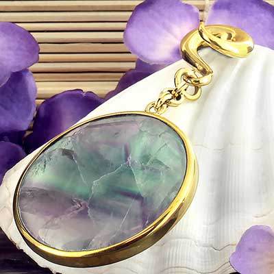 Solid Brass and Round Fluorite Lens Weights