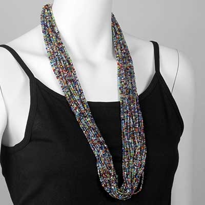 Multi-Color Seed Bead Necklace