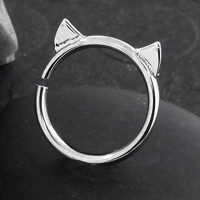 Steel Cat Seamless Ring