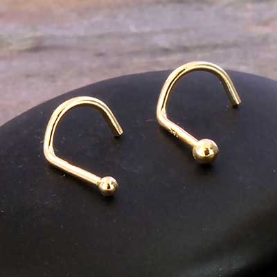 14K Gold Ball Nosescrew