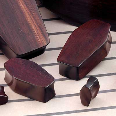 Ebony Wood Coffin Plugs