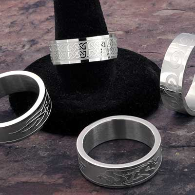 Engraved Steel Ring