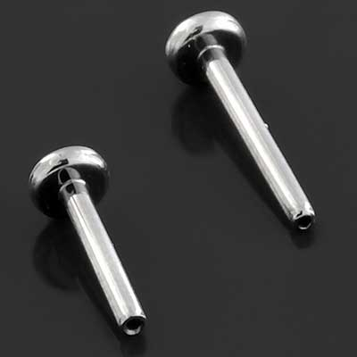 PRE-ORDER Titanium Threadless Labret (Post Only)