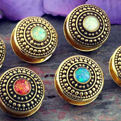 Brass and Synthetic Opal Orbit Disc Weights