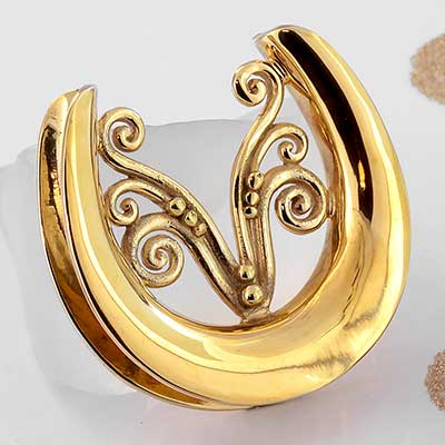 Gold Plated Fountain Saddle Weights