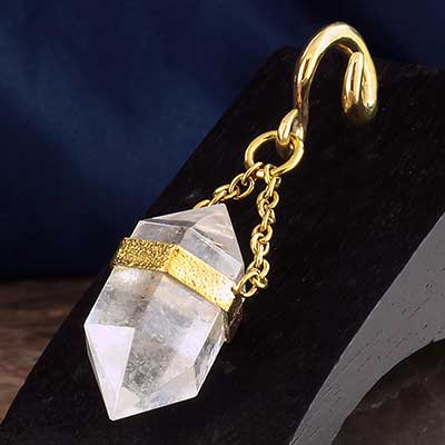 Solid Brass and Terminated Crystal Quartz Weights