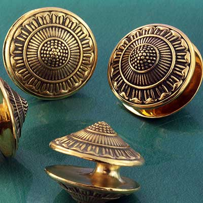 Brass Daisy Disc Weights