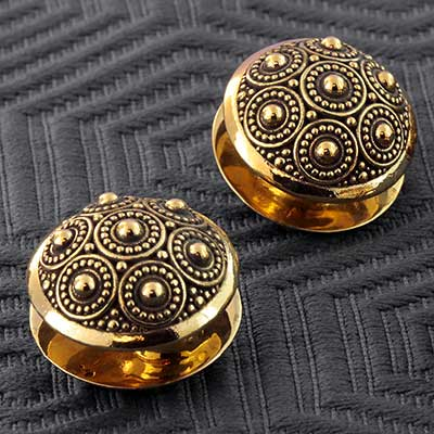 Brass Beaded Circle Disc Weights