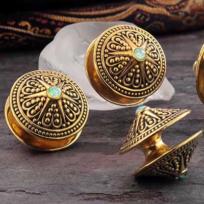 Brass and Synthetic Opal Starshine Disc Weights