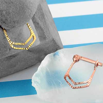 14k Gold Dui Septum Clicker