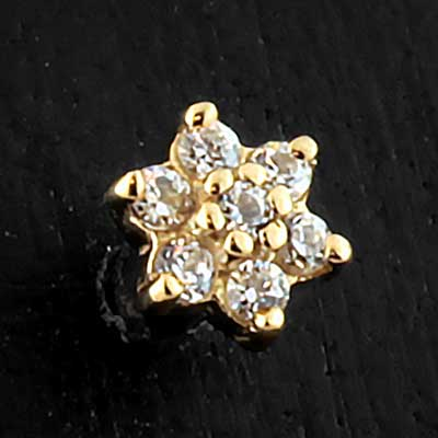 14k Gold Flower Threaded End
