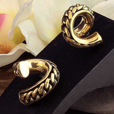 Brass Chain Link Coil Weights
