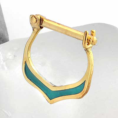 14k Gold Sense Septum Clicker