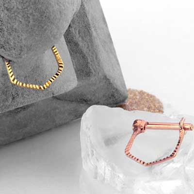 14k Gold Eka Septum Clicker