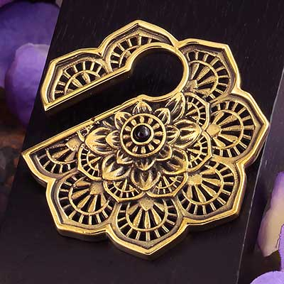 Brass Mandala Flower Keyhole Weights