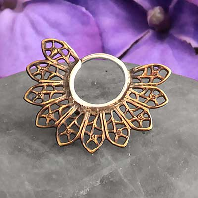 Brass Micro Filigree Blade Hoops