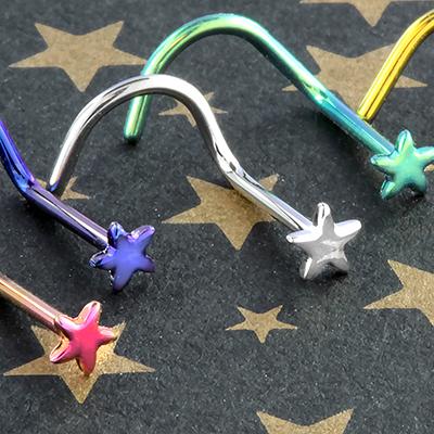 Titanium Star Nosescrew