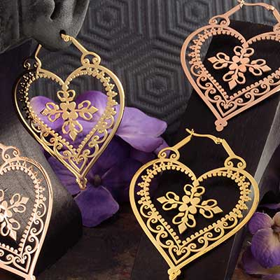 Heart of Royal Blood Earrings