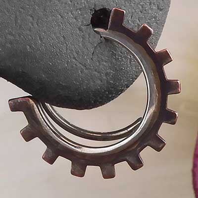 Copper Gear Blade Hoops