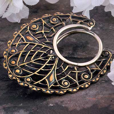 Brass Oval Filigree Blade Coils