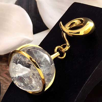 Solid Brass and Quartz Globe Weights