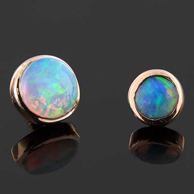 Natural Opal Bezel Set Threaded End
