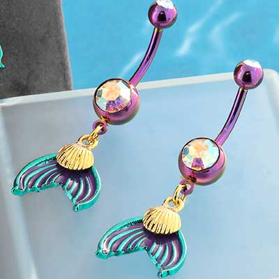 Mermaid Tail Dangle Navel
