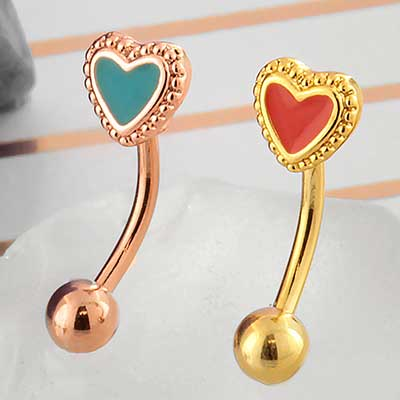 Heart Curved Barbell