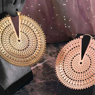 Ultra Afghan Disc Earrings
