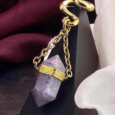 Solid Brass and Terminated Fluorite Crystal Weights