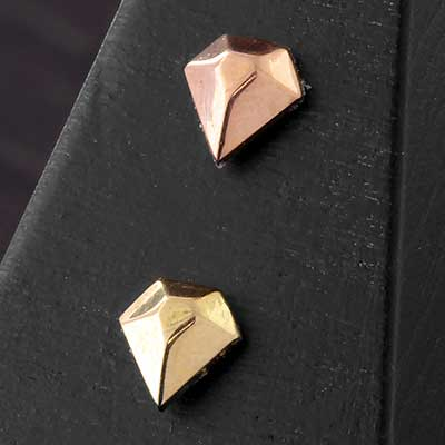 Solid 14k Gold Ice Threadless End