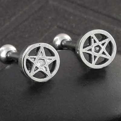 Steel Pentagram Top Barbell