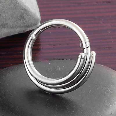 Titanium Stacked 3 Ring Clicker