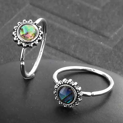 Abalone Sun Seamless Ring