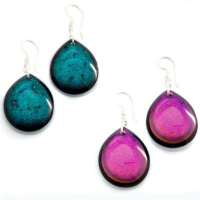 PRE-ORDER Shield Glass Earrings