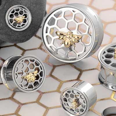 Bumble Bee Honeycomb Plugs