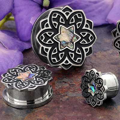 Abalone Mandala Plugs