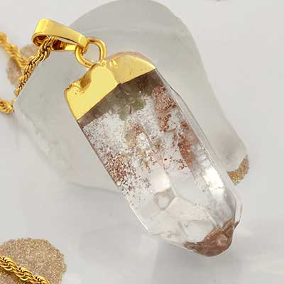 Gold Plated Quartz Necklace