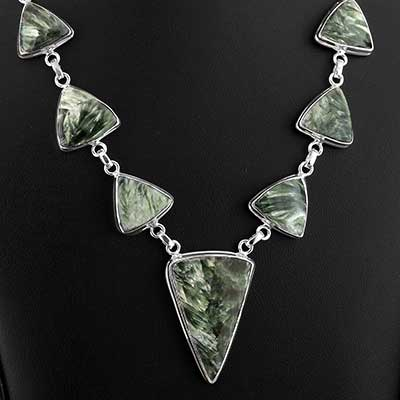 Seraphinite and Silver Necklace