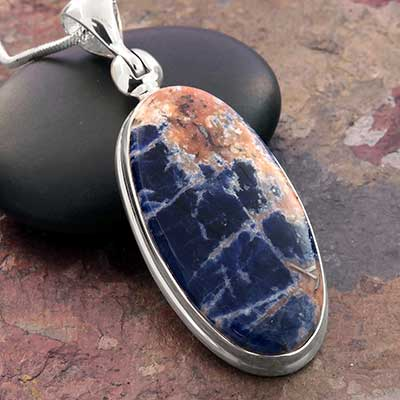 Sodalite and Silver Necklace