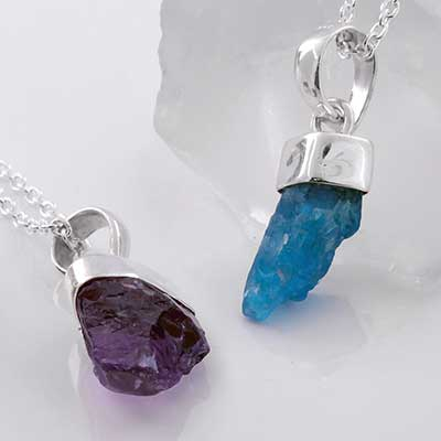 Stone Crystal and Silver Necklace