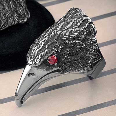 Raven Steel Ring