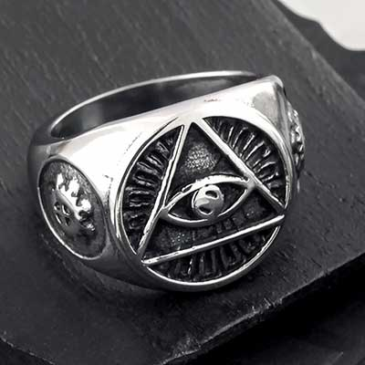Illuminati Steel Ring