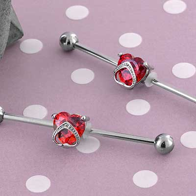 Royal Heart Industrial Barbell