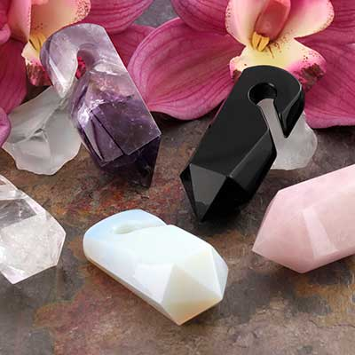Stone and Glass Prism Weights