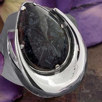 Sterling Silver Saddles with Pietersite