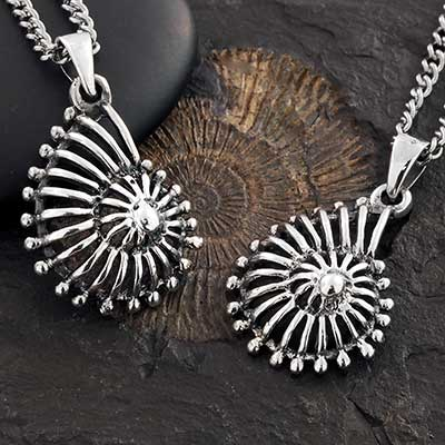 Silver Nautical Ammonite Necklace