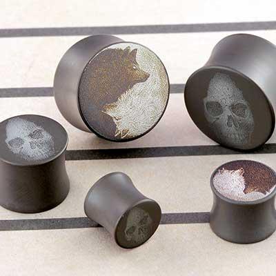 Titanium Grayphite Canister Plugs